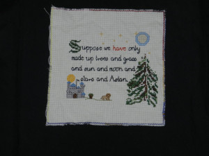 Narnia Quote Cross Stitch by Emalthya