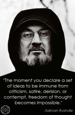 Salman Rushdie Ideas Immunity Quote Picture