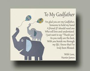 ... Godchild - Godfather Baptism Keepsake - Godfather Christening - TREE