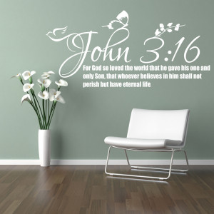 ... 16 Bible Quote Wall Sticker Christian Religion Bedroom Vinyl Decal