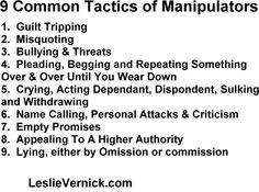 ... Tactics Manipulators use against you. #Relationships, #Family, #quotes