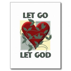 Let Go Let God Post Cards