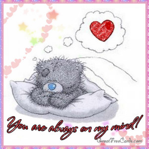 Ecard you always on my mind teddy bear