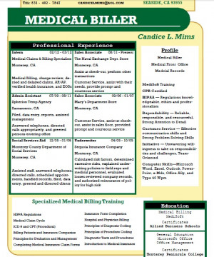 Candice L. Mims - Allied student resume - Medical Billing # ...