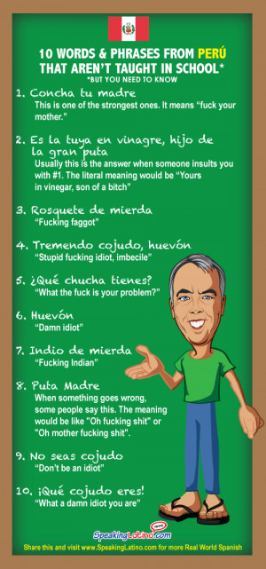 ... Vulgar Spanish Slang Words and Phrases from Puerto Rico: Infographic