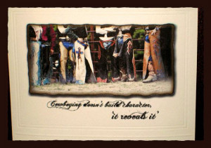 Cowboy Chaps Thank You with Inside Quote-Inspirational Gift Bull Rider ...