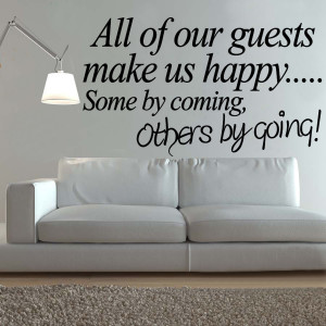 Guest Bedroom Vinyl Wall Decals Stickers Quotes