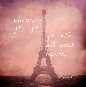 Eiffel Tower in Pink Champagne - Pink Eiffel Tower Travel Quote, Bokeh ...