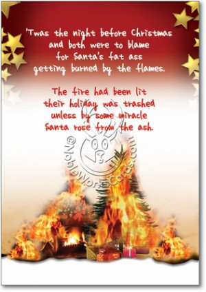 Make Santa Smores Unique Funny Merry Christmas Card Nobleworks
