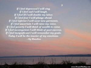 if i feel depressed i will sing if i feel