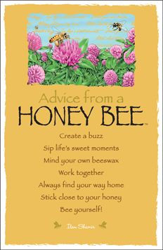 Bees: #Advice from a #Honey #Bee .
