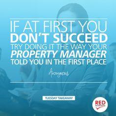 Ok, I promise I won't say I told you so... hehehe. #propertymanagement ...
