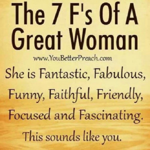 The 7 F's of a Great Woman