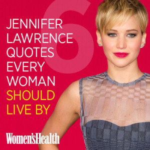 Because everything J-Law says is unfiltered and awesome