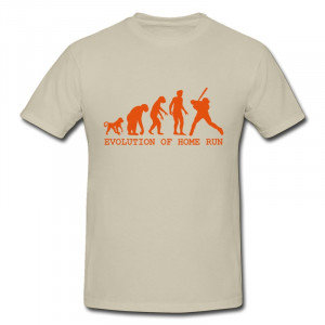 ... Tee evolution home run Funny Quotes Mens T Shirts 2014 Summer Style