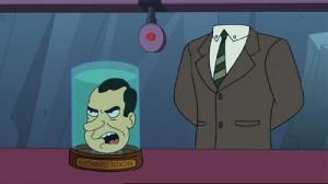 Richard Nixon Futurama Quotes -nixon's head, futurama