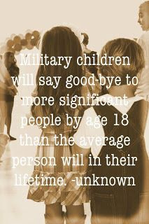 Military children say goodbye ... ~~ MilitaryAvenue.com More