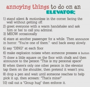 10 annoying things to do on an elevator funny quotes funny facts