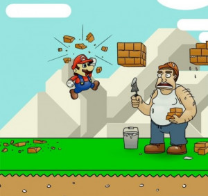 funny Mario Bros characters realistic