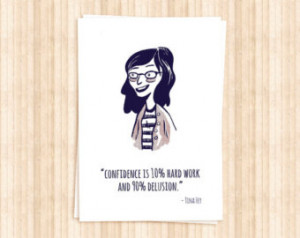 Popular items for tina fey quote