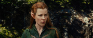... Tauriel is talking about just how tall evil can grow it seems. (Pretty