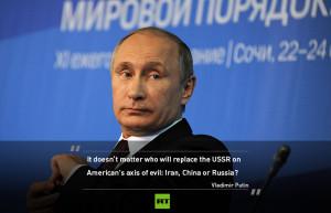 ... allows US to sell black for white': Putin's key Valdai quotes
