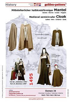 ... Mittelalter golden-pattern Middle Ages Historical Sewing Pattern