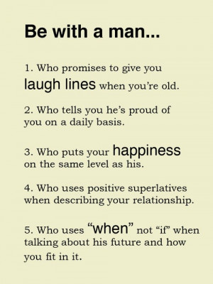 Be With A Man - Relationship Quote.