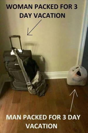 Men Vs Women Packing