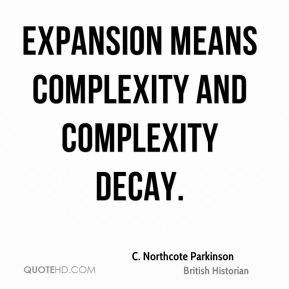 Expansion means complexity and complexity decay.