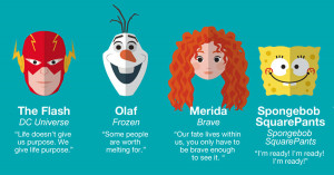 Cartoon Characters Impart Inspirational Quotes