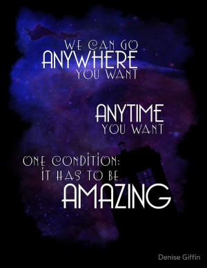 Doctor Who Quote - Anywhere and Anytime