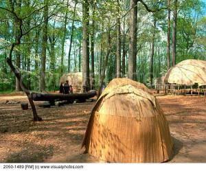 Powhatan Indian Village Jamestown Settlement Virginia USA