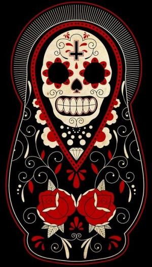 Dia De Los Muertos Matryoshka Doll -- My next tattoo tattoos