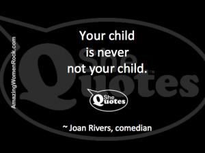 Joan Rivers on motherhood