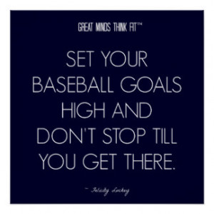 Baseball Quote 1: Goals for Success Poster