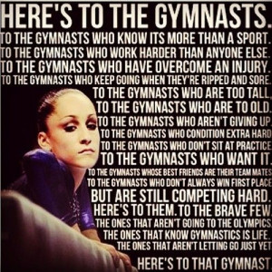 Here's to the gymnasts:)