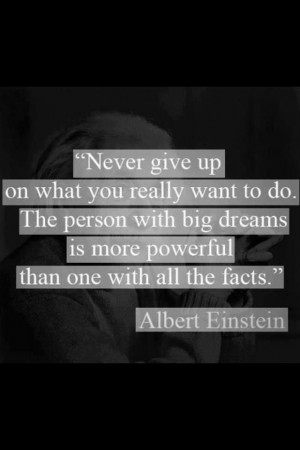 Albert Einstein quote - Perfect for my son who hates trying new things ...