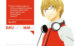 headphones blondes quotes glasses typography bakuman anime manga akito ...