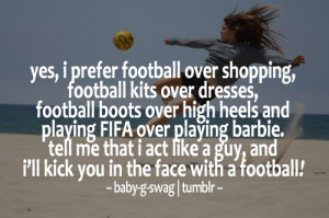 Kick you in the face with a football