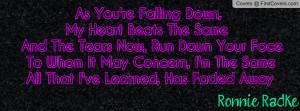Ronnie Radke Escape The Fate Falling Down -By Sami Davis cover