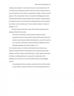 Essay sample format