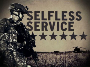 Army Values - Selfless Service More