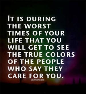 true colors of people