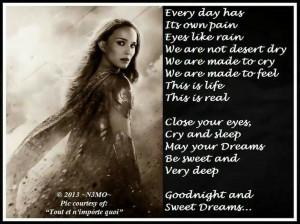 Sweet Dreams Quotes Pain good night sweet dreams