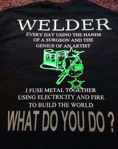 Welder shirt Custom U Design All Sizes and by SouthernSweetTampa More