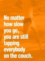 Run your own race but set a goal. fitness-health