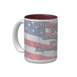 George Washington Quote On First Amendment Mugs