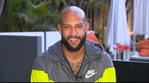 Tim Howard was interviewed on GMA, July 2, 2014.