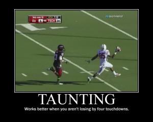 Taunting texas tech football Image